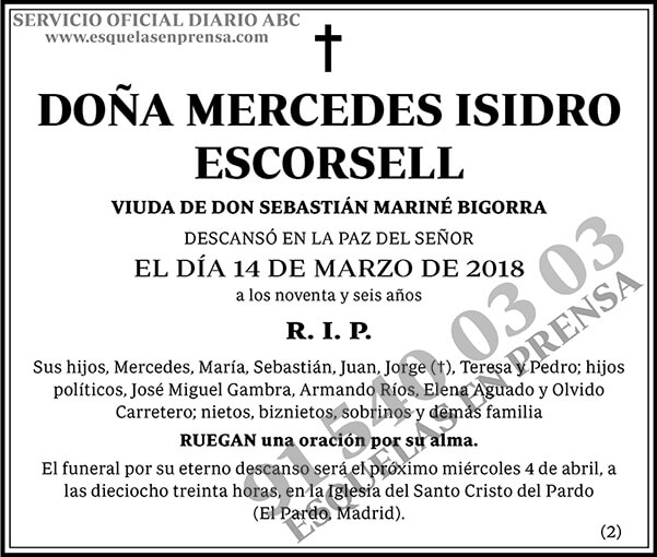 Mercedes Isidro Escorsell
